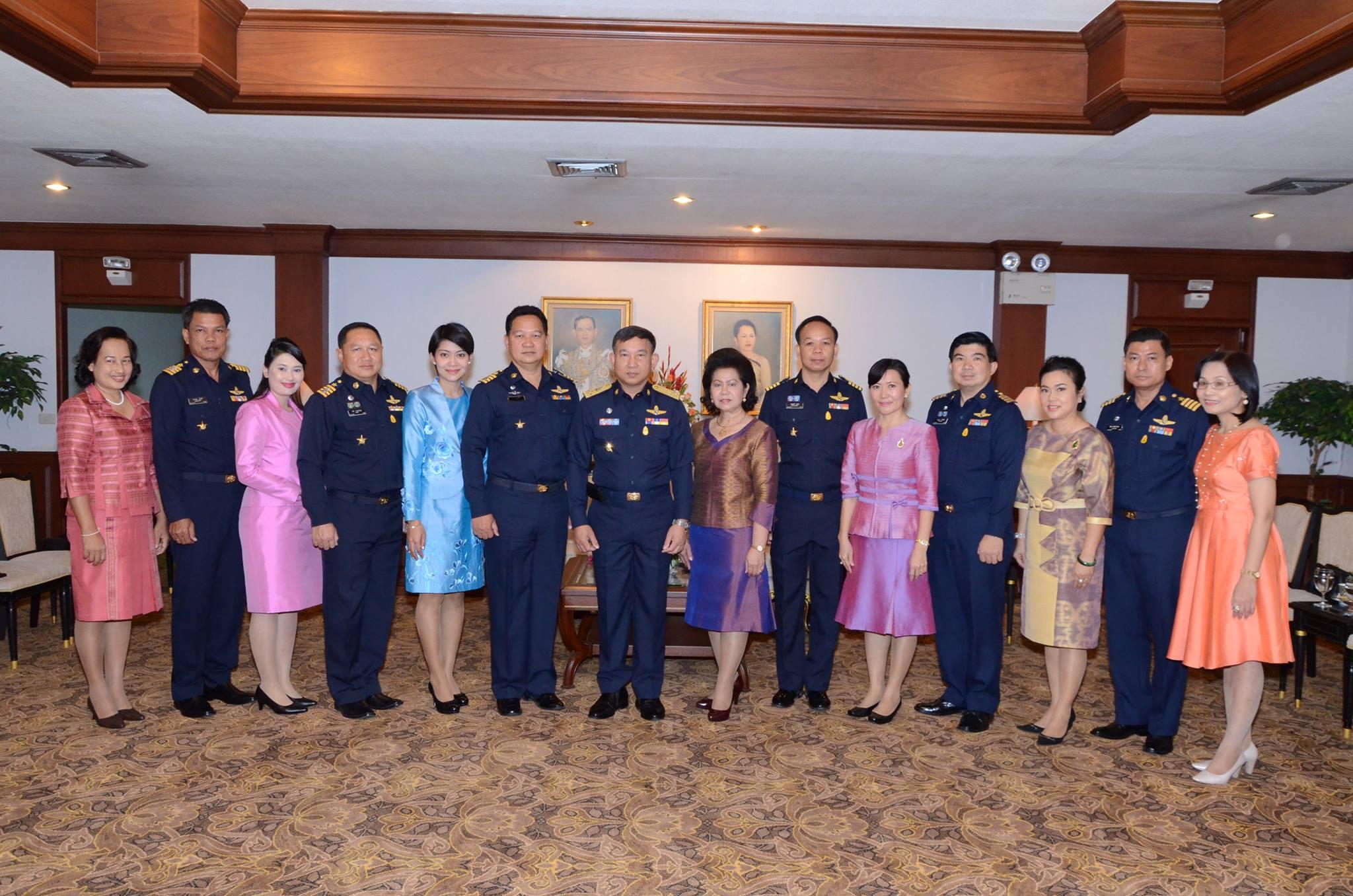 เยี่ยมอำลาไปปฏิบัติหน้าที่ของผู้ช่วยทูตทหารอากาศไทยและภริยา